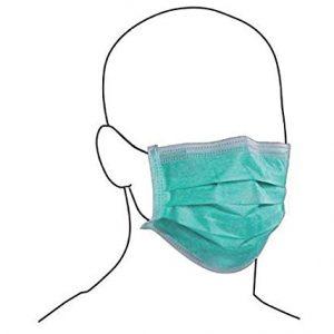 """Mascherina chirurgica monouso a tre strati, in tessuto non tessuto TNT """"medical grade"""" in polipropilene PP opaco, inodore, con filtro ad elevata efficienza, morbida, priva di fibra di vetro, ipoallergenico, buona permeabilità all'aria. Può essere fissata con lacci oppure con elastici privi di lattice. Rifiniture termosaldate."""